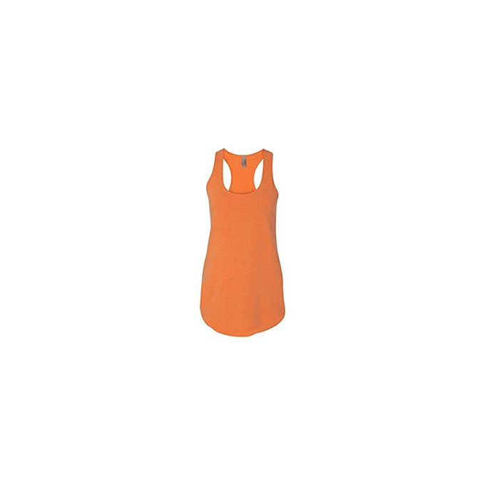 Next Level Apparel Womens Terry Racerback Tank [Neon Heather Orange, X-Large]