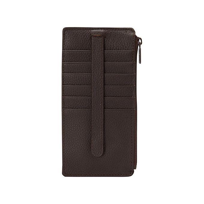 Buxton Thin Holder Card Case [Chocolate Brown]