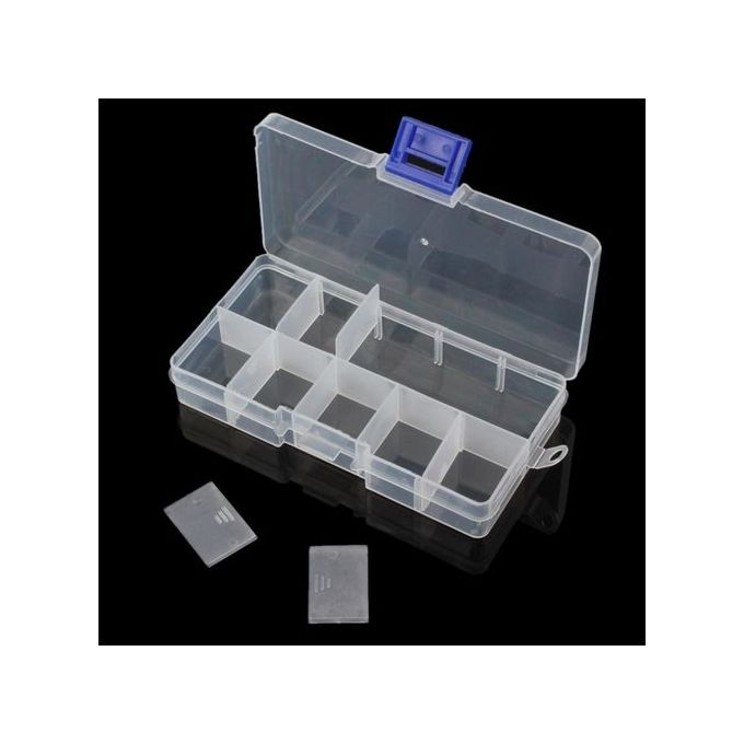 3 set x 10 compartment small organiser storage plastic box for craft  nail fuse beads