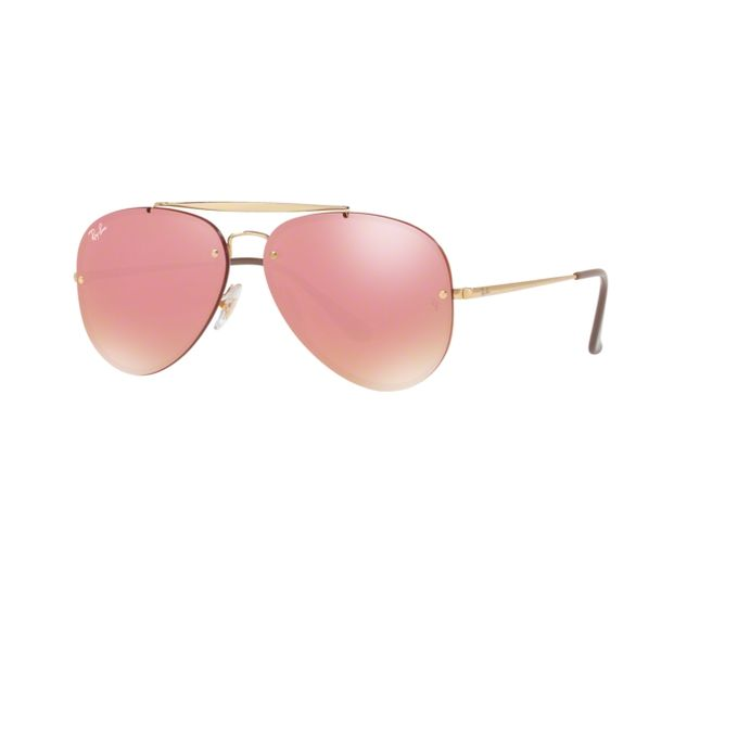 06c32296e8fa Sale on Ray Ban Blaze Aviator RB3584N 9052E4 Gold Frame Rose Mirror ...