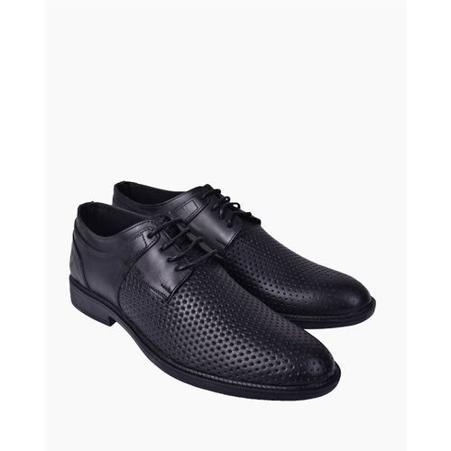 Casual Oxford Leather Shoes - Black