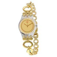 7bfd2973f7fb5 Swatch Women  039 s Originals LK346G Gold Stainless-Steel Swiss Quartz Watch
