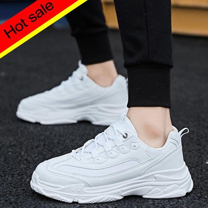 4c76ac070 شبكة تنفس الاحذية زوجين أحذية سميكة أحذية رجالية أبي الأبيض أحذية رياضية أحذية  السيدات الدانتيل متابعة