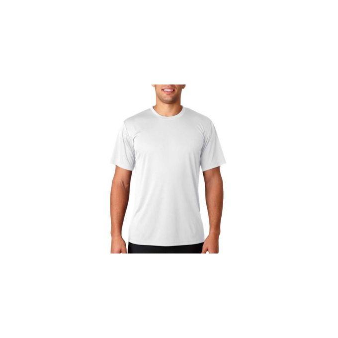 Hanes Sport Mens Heathered Performance T-Shirt [White, Small]