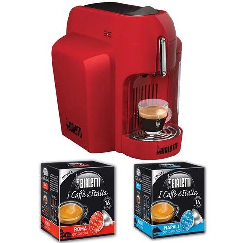 CF62 Mini Express Espresso Maker - 1250W - Red + 2 Free Capsule Boxes