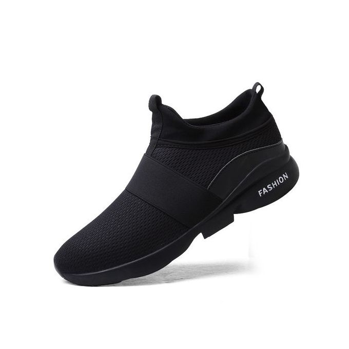 competitive price b6736 66986 Men Running Shoes Sport Big Size Shoes Black
