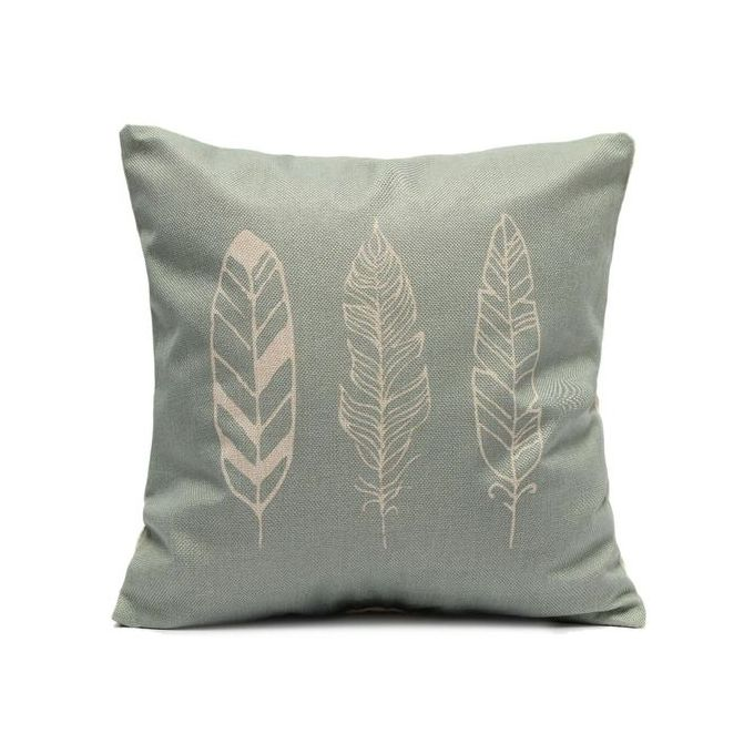 45X45cm White Feather Linen Home Pillowcase –  مصر