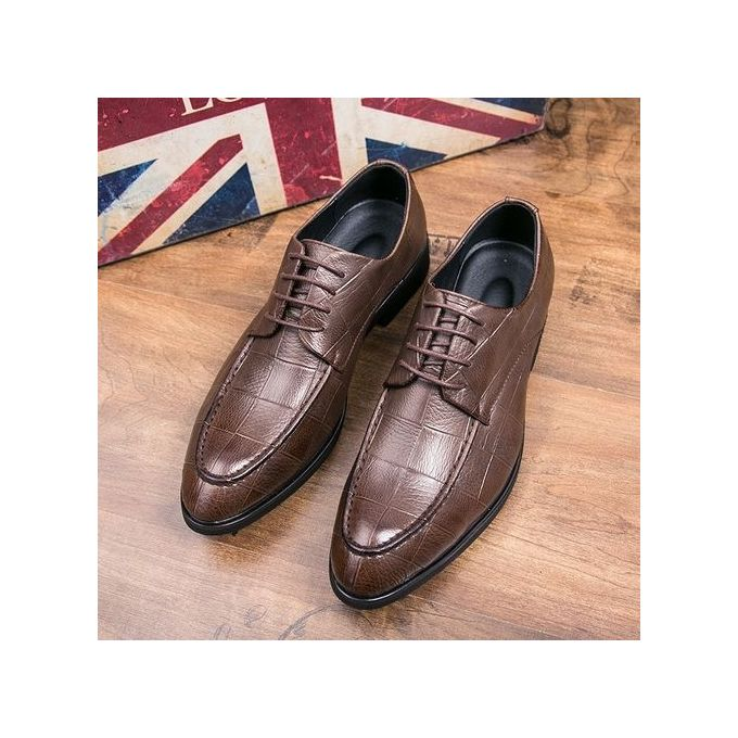 2f64aa0610bab Genuine Leather Men Formal Shoes British Sytle Loafers Slip-On ...