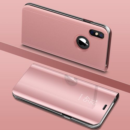 official photos 7b758 82399 For IPhone 8 Phone Case Luxury Clear View Smart Mirror Phone Case Flip  Stand-Rosegold