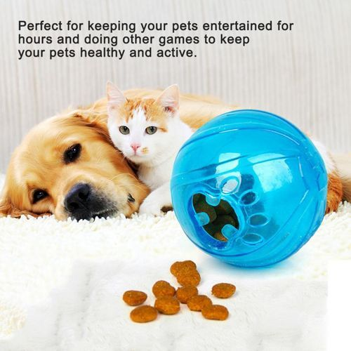 1PC Fashionable Dog Puppy Cat Food Feeder Training Bite Resistant Ball Toy Pet Supplies