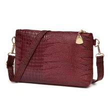 71acf7fc20 Women Fashion Handbag Crocodile Pattern Shoulder Bag Small Tote Ladies Purse