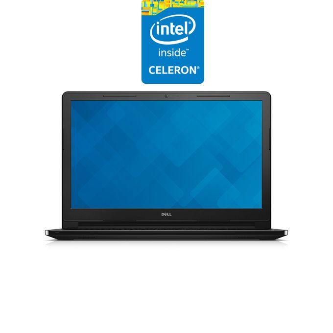 Inspiron 15-3552 لاب توب - انتل سيليرون - رام 4 جيجا - هارد HDD 1 تيرا - شاشة HD 15.6 بوصة - رسومات انتل - Ubuntu - أسود