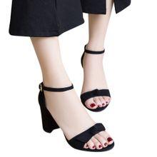 66bad020e115 Jiahsyc Store Women Fashion Bow Solid Color Dull Polish Square Toe High  Heeled Shoes Black-