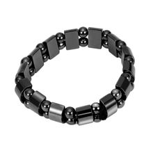 629489dec Black Magnetic Hematite Healing Mens Womens Loose Beads Bracelet Black