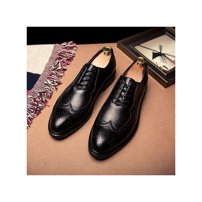 082f109c4a64e0 Men's High Quality Oxford Classic Lace Up Leather Formal Shoes Men Genuine  Leather Casual Shoes