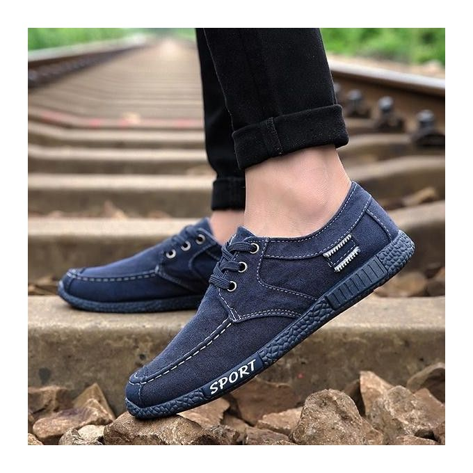 ec50ab00a52 Fashion Men Old Beijing Style Canvas Breathable Lace Up Casual Loafers  Flats Shoes