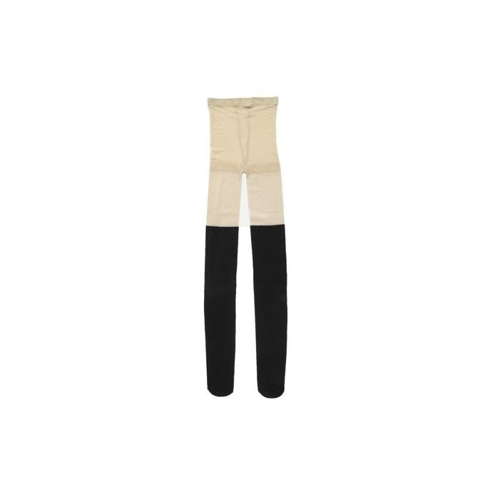 7c219b6d4 TB Black Mixed Colors Ribbed Over Knee Tights Thigh High Pantyhose Socks  Skin Color And Black