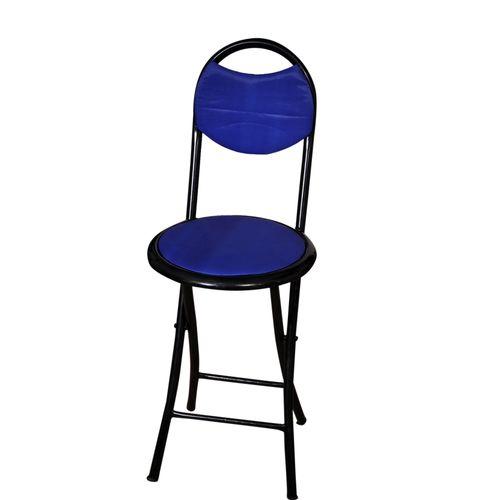 كرسي معدني متعدد الاستخدام - أزرق
