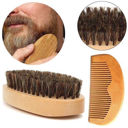 Wholesale Boar Bristle Beard Brush And Comb Beard Comb Kit Mens Grooming Kit