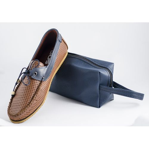 Perforated Slip On Moccasin - Brown