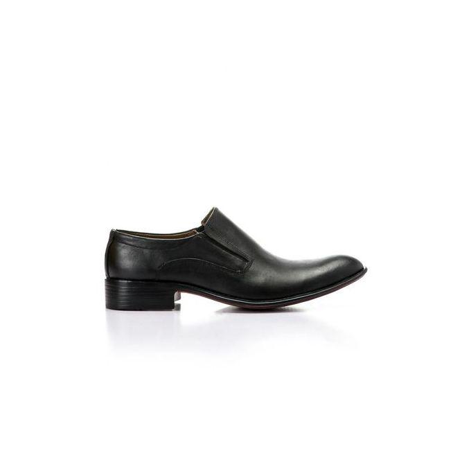 41937089a Elegant Men's Classic Leather Shoes - Black - Jumia مصر