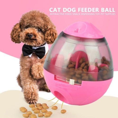 Minxin Cat Dog Feeder Ball Interactive Food Snack Dispensing Toy Pet Supplies