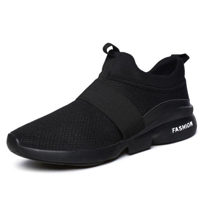 56f21191e0dd6 أحذية رجالي أحذية تنس رجالي - أحذية خفيفة الوزن مش الانزلاق على تشغيل المشي  أحذية سوداء
