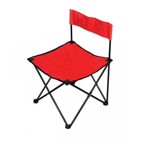 Order Portable Folding Armless Camping Chair Red At Best
