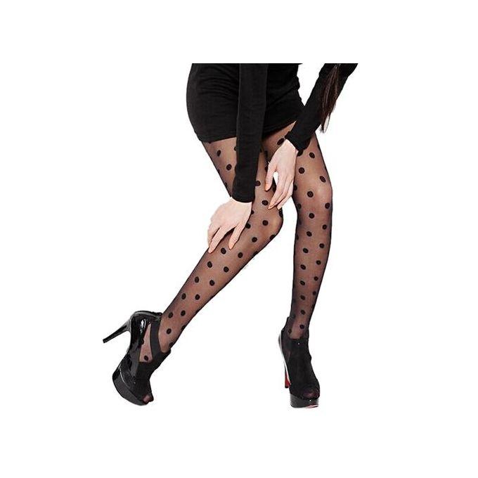 8819431c2ff Women Sexy Sheer Lace Big Dot Pantyhose Stockings Tights Dots Hosiery Socks  BK