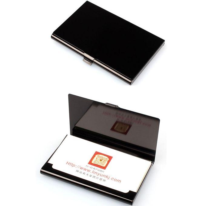 Creative Aluminum Holder Metal Box Cover Credit Business Card Wallet Bk