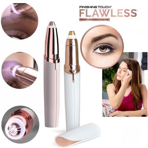 Finishing Touch Flawless Women's Brows Trimmer - White