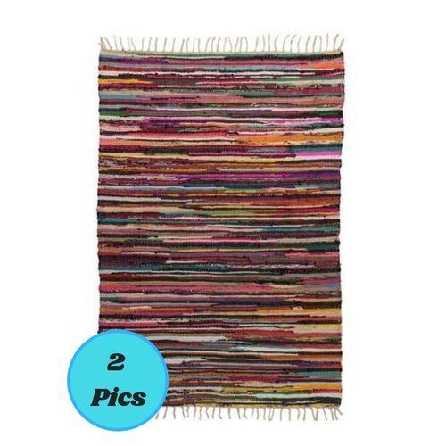 KIRGRE130-2 Cotton Kilim Rug - 130*185Cm - 2 Pcs
