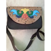 f06eb56df891c Handmade Women Leather Cross Bag - Multicolor