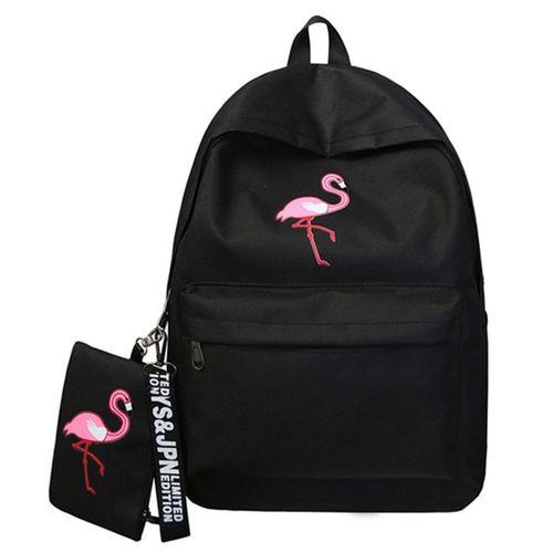 4fc325a63461 Backpacks Women Simple Flamingo Printing Backpack For Teenage Girls Laptop  School Bags Mochila 2019(Black)