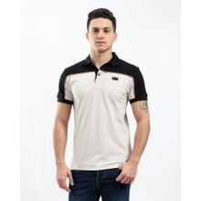 eaa858480 Bi Tone Casual Polo Shirt - Heather Beige  amp  Black