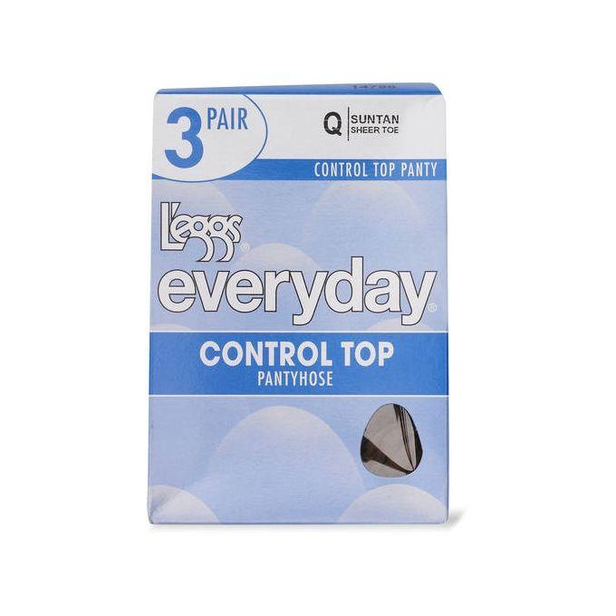 Leggs Everyday Control Top ST 3 Pair [Off Black, B]
