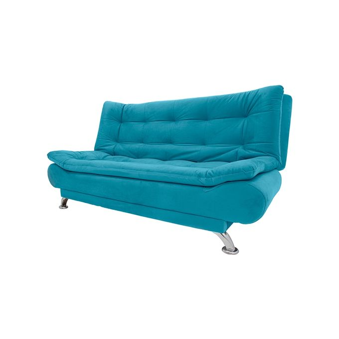 3 Seaters Velvet Sofa Bed 190x120 Cm Turquoise