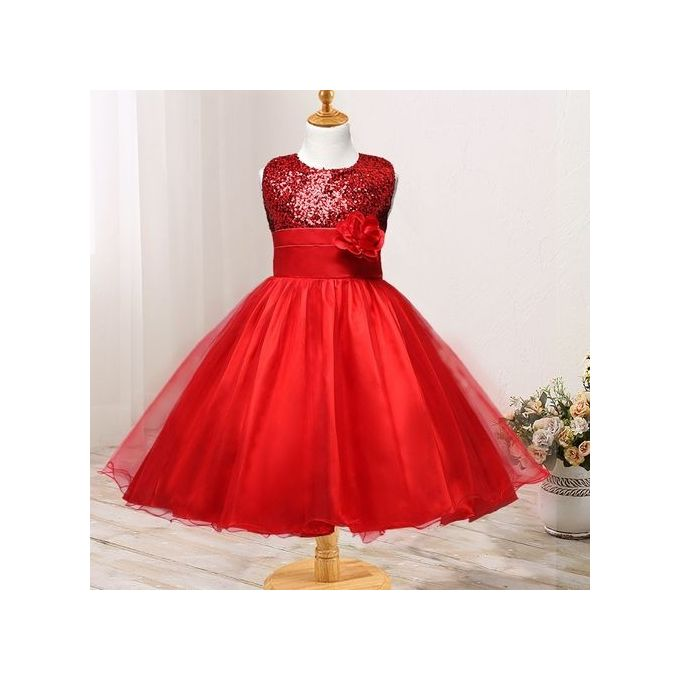 26a99f0ef Sale on Mini Mode Baby Girls Shiny Corsage Sun Dress Trim Ball Gown ...