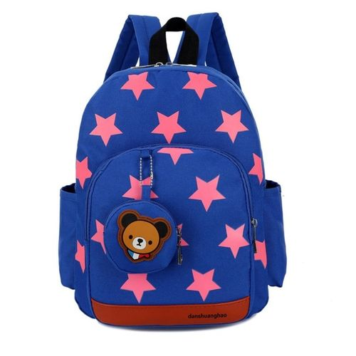 Allwin Stars Printed Children Backpack Adjustable Strap For Student School  Bags -Blue 79b43f818e5d3