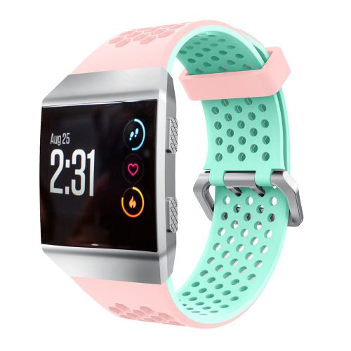 8fa262e8d1d81 Generic Husksp Lightweight Ventilate Silicone Perforated Accessory Sport  Bands For Fitbit Ionic