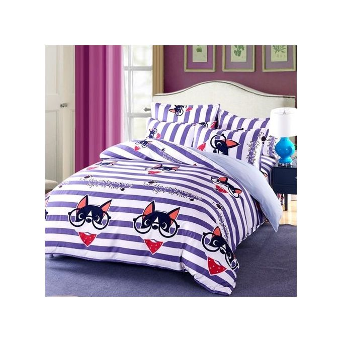 4PCS Duvet Cover With Pillow Case & Flat Sheet Bedding Set 1.5m –  مصر