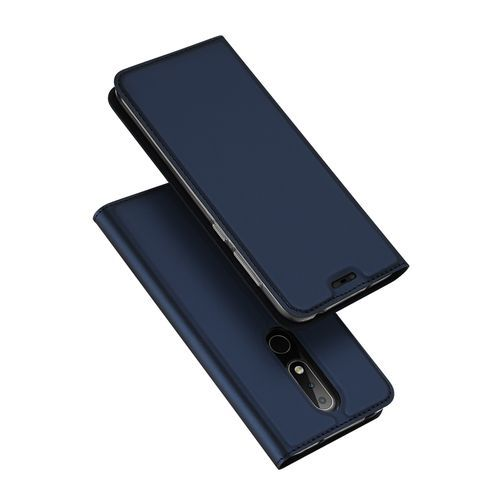 new york 2188c 2ba58 Nokia 6.1 Plus Leather Case, Pu Leather Flip Wallet Case Cover For Nokia  6.1 Plus With Stand Function And Card Slot - Blue.