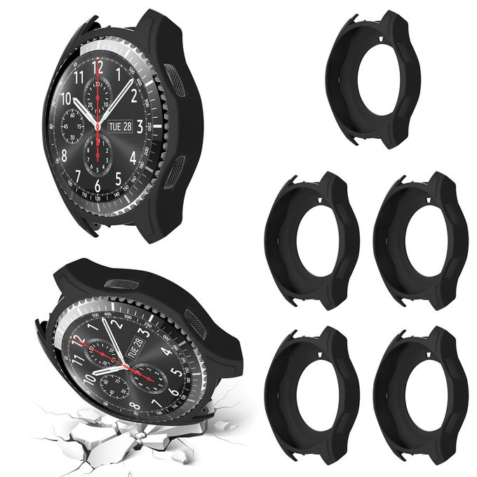 5PCS Silicon Slim Smart Watch Case Cover For Samsung Gear S3 Frontier