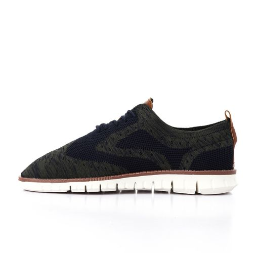 Elegant Synthetic Men Casual Shoes - Navy Blue & Olive