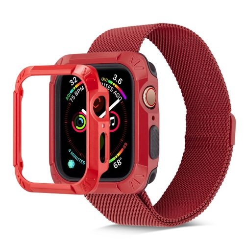 first rate 7e98f f08b1 TPU + PC Shockproof Protective Case For Apple Watch Series 4 44mm (Red)