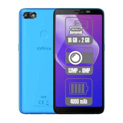 X606C Hot 6 هاتف - 6.0 بوصة - 16+2 جيجا بايت - شبكة 3G - أزرق