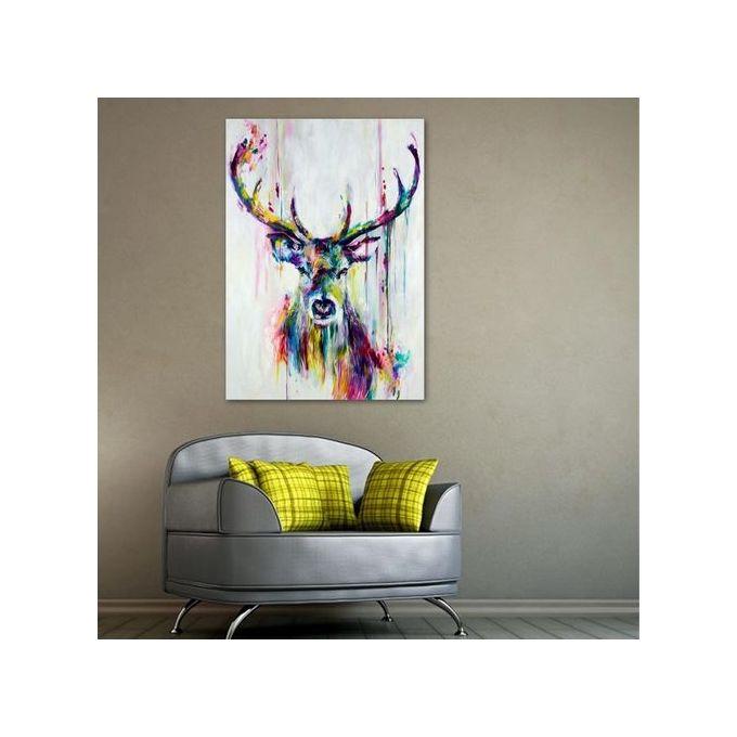 Unframed Watercolour Canvas Print Painting Deer Wall Art Home Decor A3 297  X 420