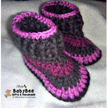 H  amp  Made Baby Booties - Wool - Suitable For Both Genders - Multicolor 455cfd24eef1