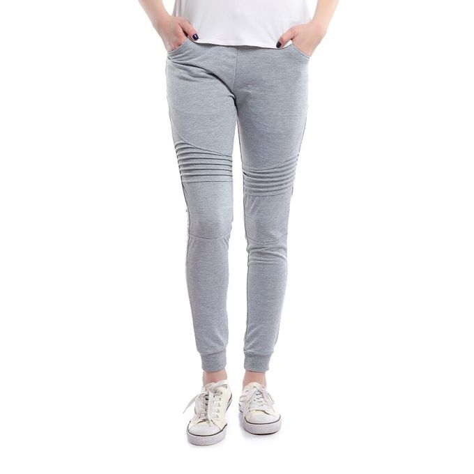 Sale on Active Striped Knee Sweatpants Joggers For Women Grey ... e99fde1df
