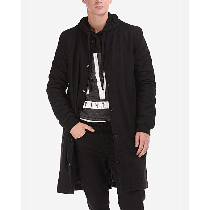 Ravin Long Baseball Jacket - Black | Buy online | Jumia Egypt